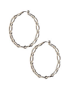 Lauren Ralph Lauren Large Chain Hoop Earrings