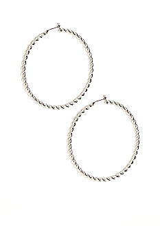 Lauren Ralph Lauren Large Braided Metal Hoop Earrings