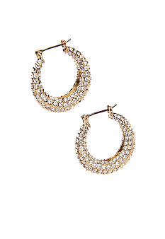 Lauren Ralph Lauren Pave Hoop Earrings