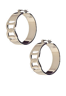 Lauren Ralph Lauren Frontal Twist Metal Hoop Earrings