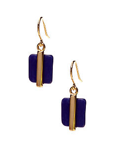 Lauren Ralph Lauren Small Blue Bead Drop Earrings