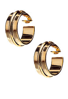 Lauren Ralph Lauren Metal Hoop Clip Earrings