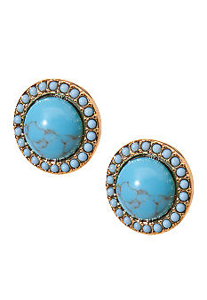 Lauren Ralph Lauren Turquoise Button Earrings