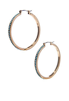 Lauren Ralph Lauren Turquoise Clickit Hoop Earrings