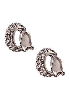 Lauren Ralph Lauren Pave Hoop Clip Earrings