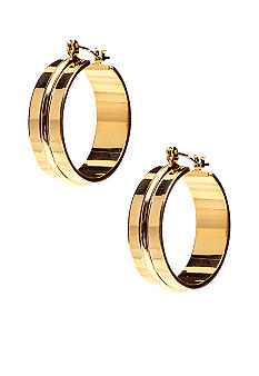 Lauren Ralph Lauren Ribbed Click-it Hoop Earrings