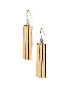 Lauren Ralph Lauren Large Metal Linear Earrings