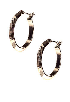 Lauren Ralph Lauren Small Textured Hoop Earrings