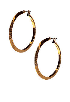 Lauren Ralph Lauren Large Textured Hoop Earrings