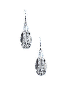 Lauren Ralph Lauren Pave Bead Drop Earrings