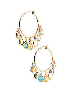 Lauren Ralph Lauren Multi-Color Drop Hoop Earrings
