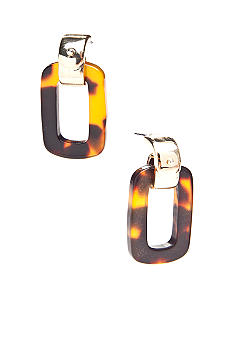 Lauren Ralph Lauren Tortoise Doorknocker Earrings