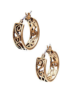 Lauren Ralph Lauren Gold-Tone Clickit Hoop Earrings