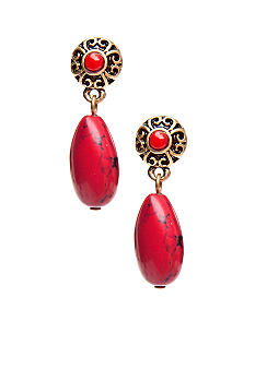 Lauren Ralph Lauren Coral Double Drop Earrings
