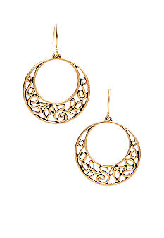 Lauren Ralph Lauren Gold-Tone Gypsy Hoop Earrings
