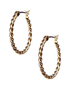 Lauren Ralph Lauren Twisted Hoop Earrings