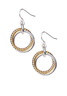 Lauren Ralph Lauren Two Tone Link Drop Earrings