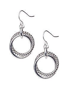 Lauren Ralph Lauren Silver Link Drop Earrings