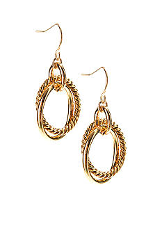 Lauren Ralph Lauren Gold Link Drop Earrings