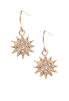 Lauren Ralph Lauren Crystal Star Drop Earrings