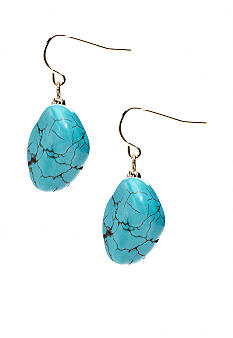 Lauren Ralph Lauren Turquoise Nugget Drop Earrings