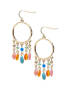 Lauren Ralph Lauren Multi-Bead Drop Gypsy Hoop Earrings