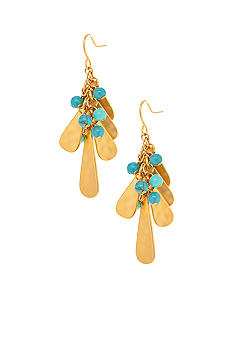 Lauren Ralph Lauren Metal Teardrop Cluster Earrings