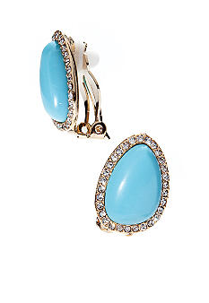 Lauren Ralph Lauren Turquoise Clip Earrings