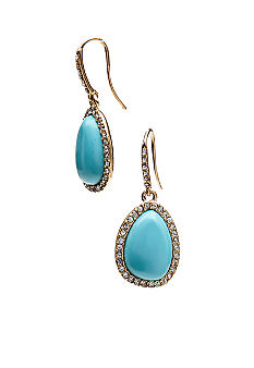 Lauren Ralph Lauren Turquoise Pave Drop Earrings