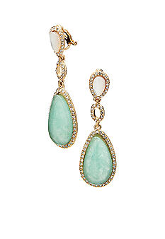 Lauren Ralph Lauren Teardrop Stone Clip Earrings