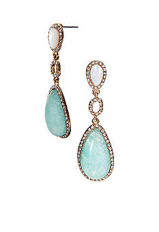 Lauren Ralph Lauren Double Drop Stone Earrings