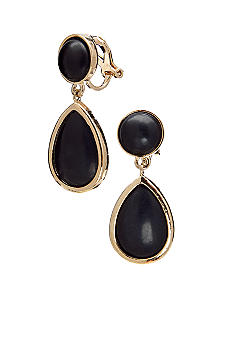 Lauren Ralph Lauren Jet Double Drop Clip Earrings