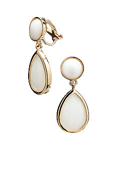 Lauren Ralph Lauren Mother of Pearl Clip Earrings