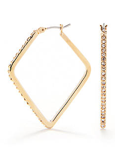 Lauren Ralph Lauren Triangle And Pave Clickit Hoop Earring