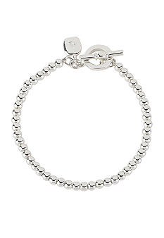 Lauren Ralph Lauren 4mm Silver Beaded Bracelet
