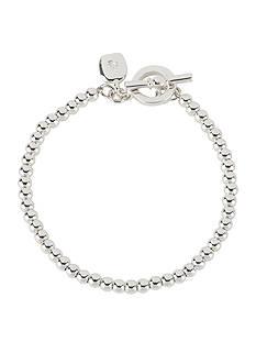Lauren Ralph Lauren 4mm Silver-Tone Beaded Bracelet