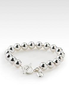 Lauren Ralph Lauren Silver-Tone Bead Bracelet