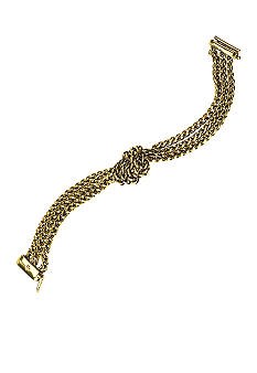 Lauren Ralph Lauren Braided Chain Bracelet with Knot