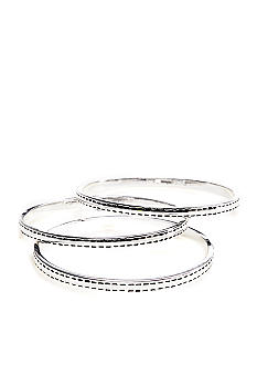 Lauren Ralph Lauren Set of Three Silver Tone Bangles