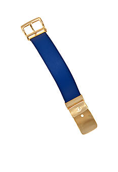 Lauren Ralph Lauren Blue Leather Buckle Bracelet