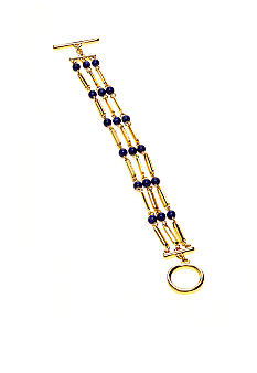 Lauren Ralph Lauren Three Row Blue Bead Bracelet