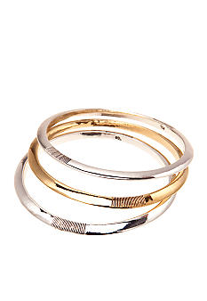 Lauren Ralph Lauren Set of Three Textured Bangles