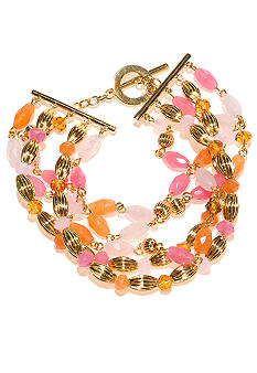 Lauren Ralph Lauren Five Row Multi Bead Bracelet