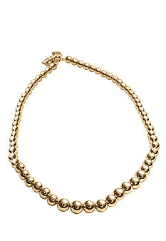 Lauren Ralph Lauren Graduated Gold Tone Beads Necklace<br>