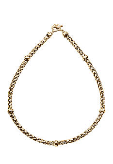 Lauren Ralph Lauren Braided Chain With Smooth Stations