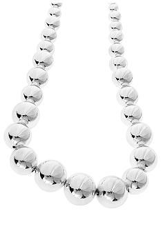 Lauren Ralph Lauren Graduated Silver Bead Necklace