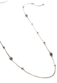 Lauren Ralph Lauren Glass Pearl and Pave Illusion Necklace