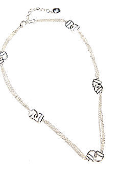 Lauren Ralph Lauren Fine Chain With D-Ring Metal Links Illusion Necklace