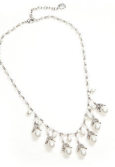 Lauren Ralph Lauren Pearl And Crystal Drops Necklace