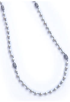 Lauren Ralph Lauren Long Pearl and Pave Necklace